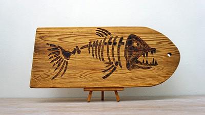 Big Fish Skeleton Motive for Pyrography Project [2019] Thumbnail
