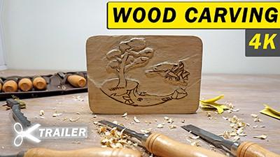 Wood Carving and Pyrography Burning [Trailer] Thumbnail
