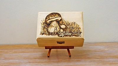 Mushroom Wood Burning Project [+Birds Singing] Thumbnail