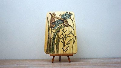 Dragonfly Pyrography Project From Scratch [2019] Thumbnail