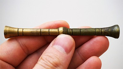 Aging brass with vinegar and salt