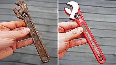 Adjuastable wrench restoration
