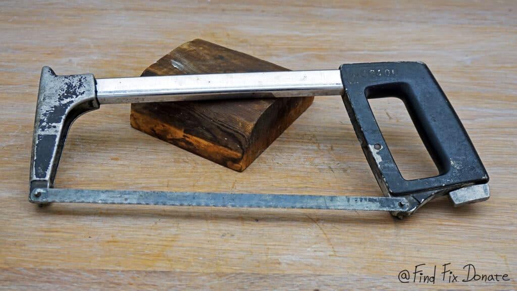High tension hacksaw before restoration