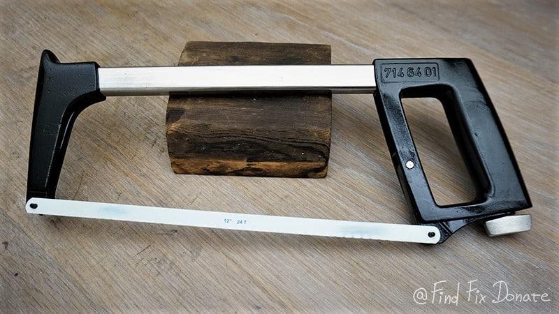 High tension hacksaw after restoration