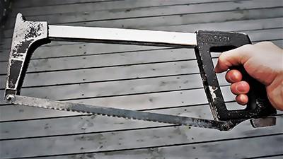 Restored hacksaw