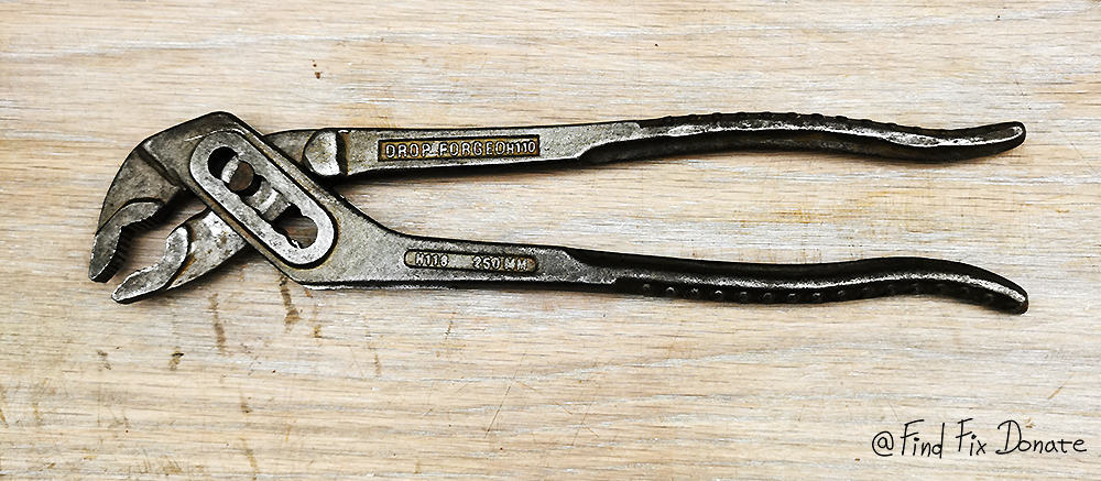 Removed paint from old pliers