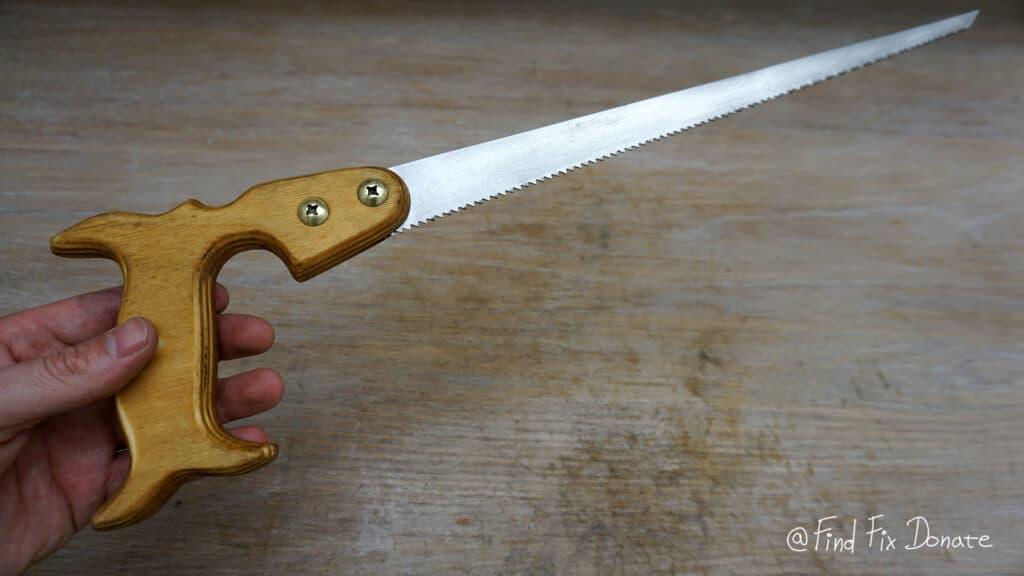 Hand saw after restoration