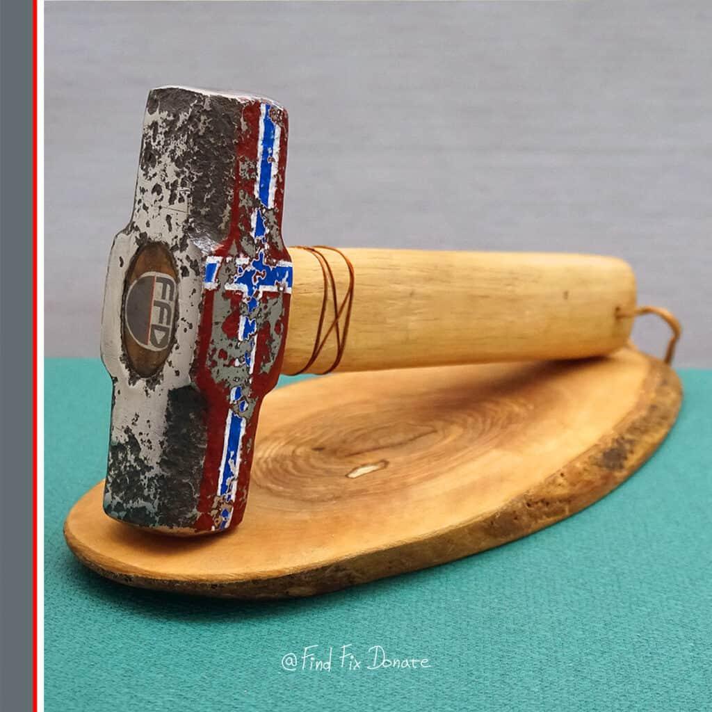 hand restored old hammer