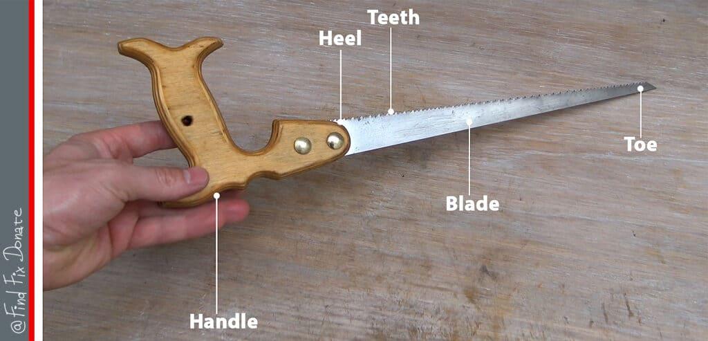 Hand saw parts - FindFixDonate