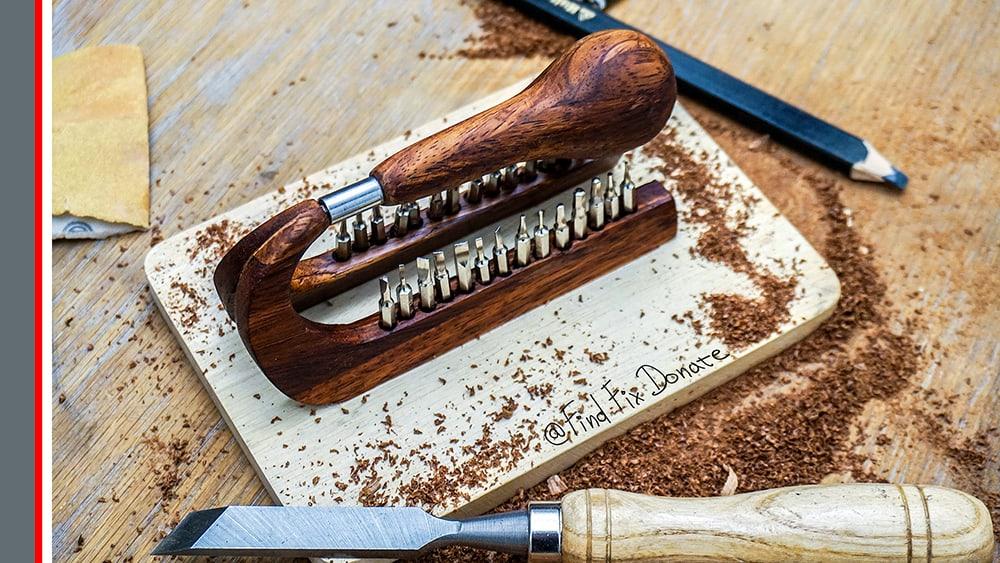 Handmade Wooden Screwdriver Set