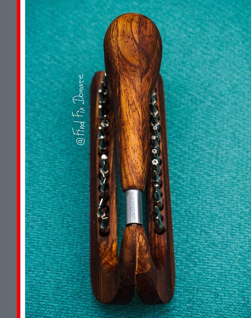 Handmade Wooden Screwdriver Set top view