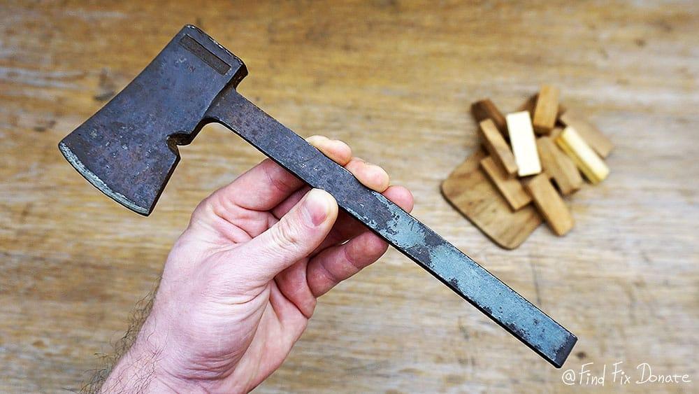 Old Japanese axe / hatchet before restoration.