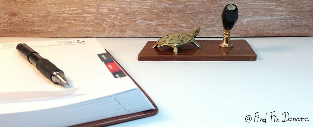 Brass turtle restoration