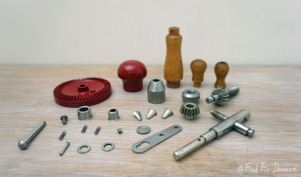 Prepared parts for assembling.