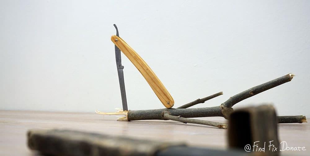 Shaving knife after restoration.
