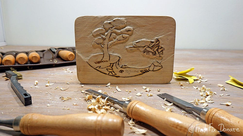 Almost finished with wood carving.