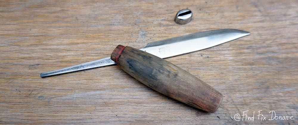 Ready knife's part for assembling.