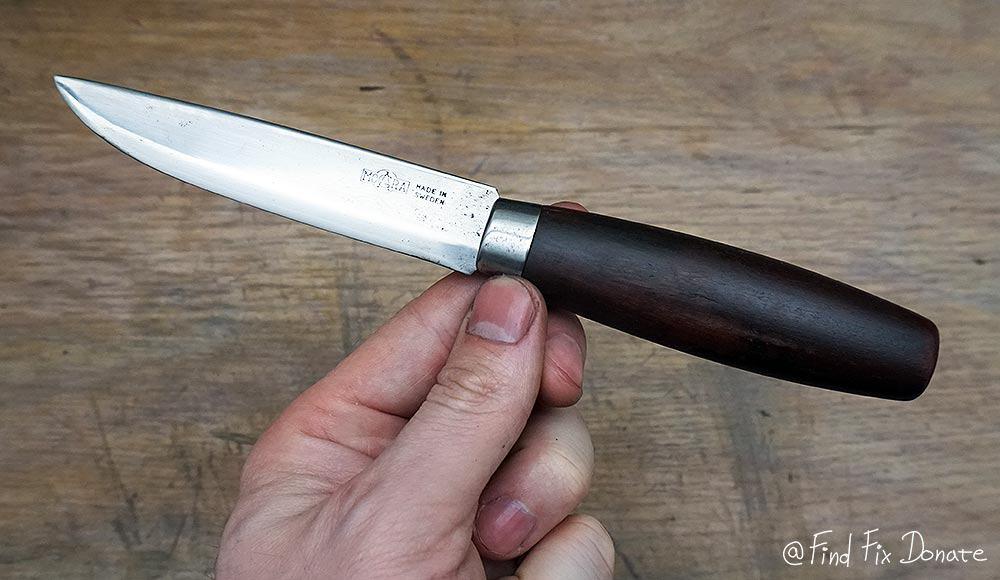 Mora Swedish knife after restoration.