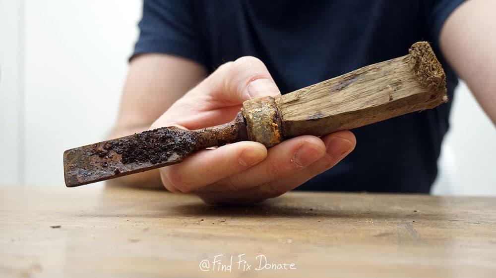 Old chisel before restoration.