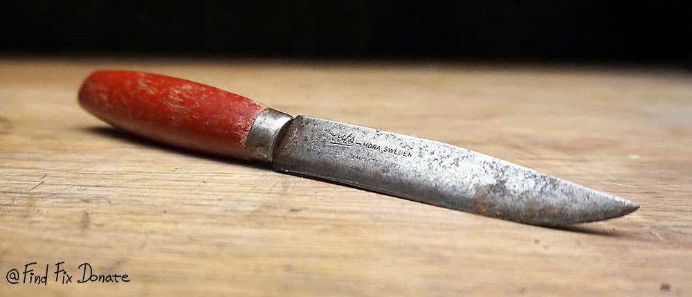 Frosts Mora knife before restoration.