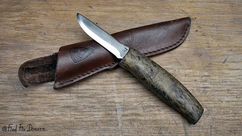 Restored knife with original sheath.