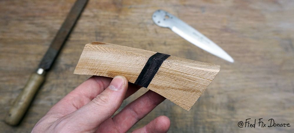 Roughly shaped knife's handle.
