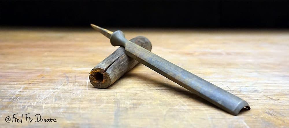 Swedish chisel disassembled.