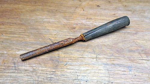 Old half round Swedish chisel restoration
