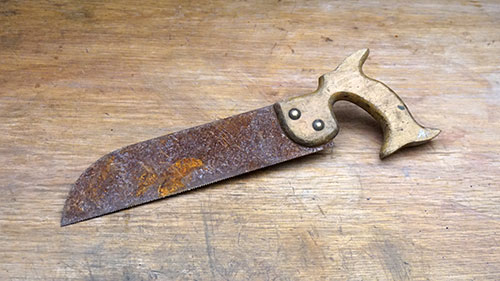 Old hand saw rescue.