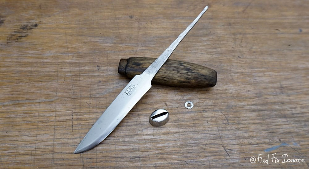 Ready to be assembled FMM knife