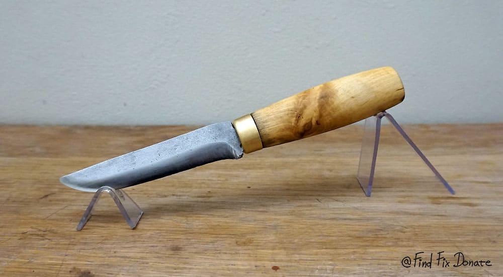 Restored old KKS knife with handmade charm.