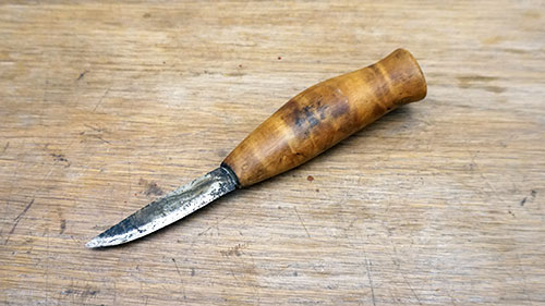 Old Knife's blade restoration featured