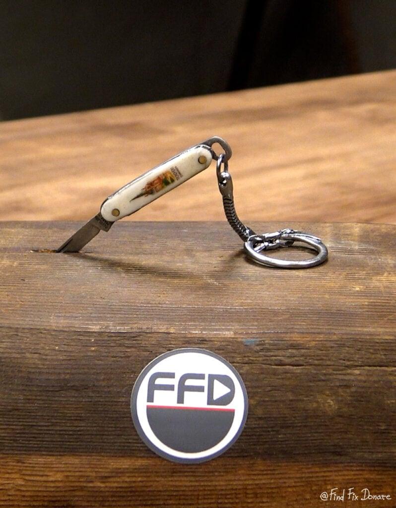 Keychain knife after restoration.