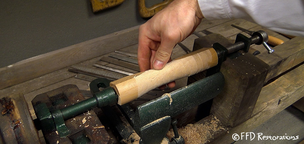 Checking out to see how it looks after a short period of spinning on lathe.