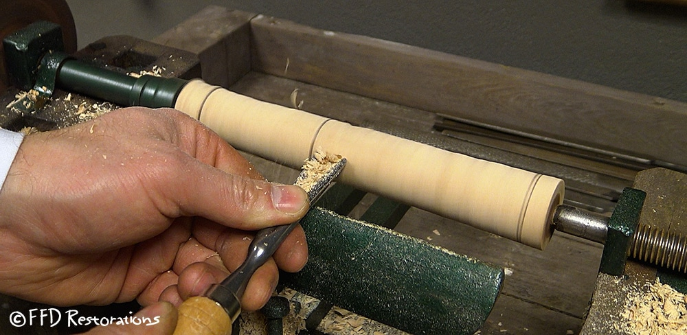 Started making a round shape for the end of the handles.