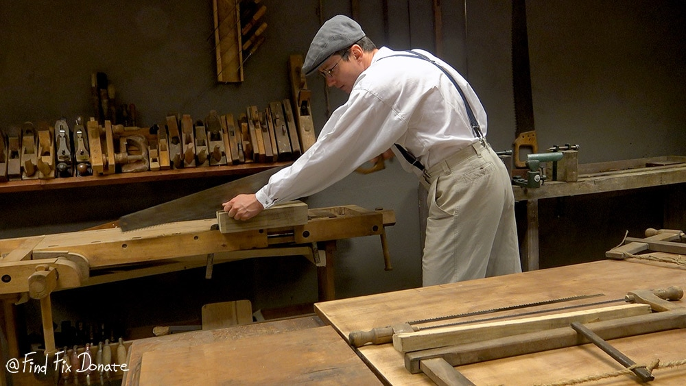 Cutting the Accoya wood for the handles.