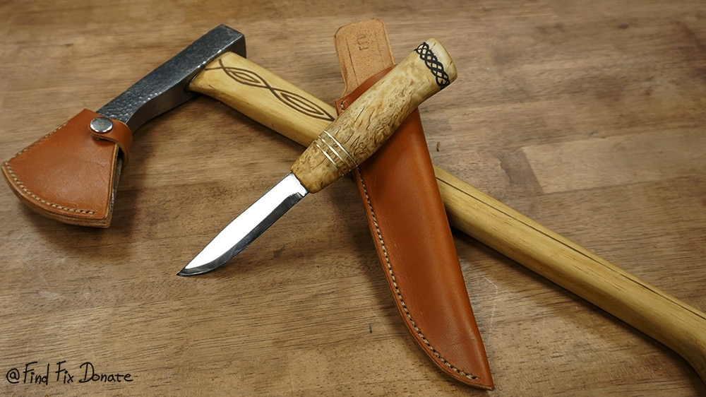 Knife is made and ready for a giveaway.
