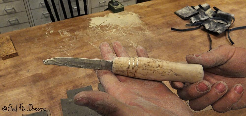 Sanded blade up to 1200 grit.